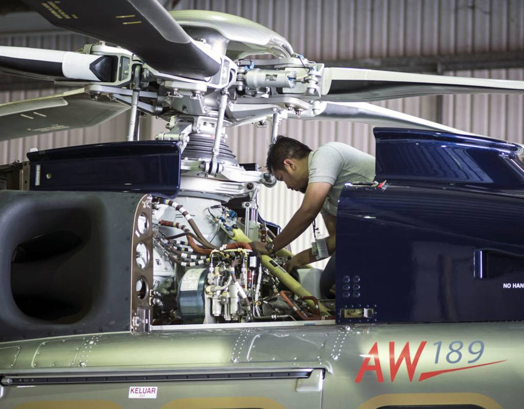 The AW189 will be the first type to be fully certified with the real-time data function, with Leonardo targeting regulatory approval by early 2021. Leonardo Photo