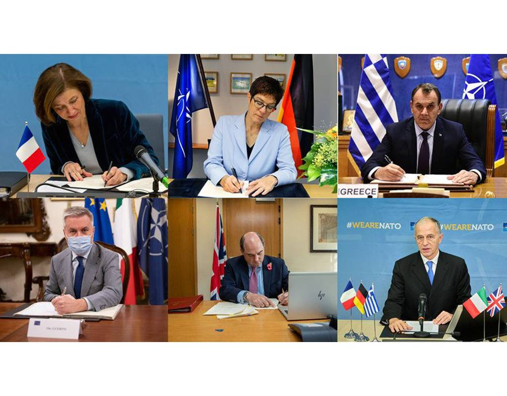 In a virtual ceremony, the defense ministers of the five Allies signed a letter of intent to develop an entirely new helicopter capability. NATO Photos