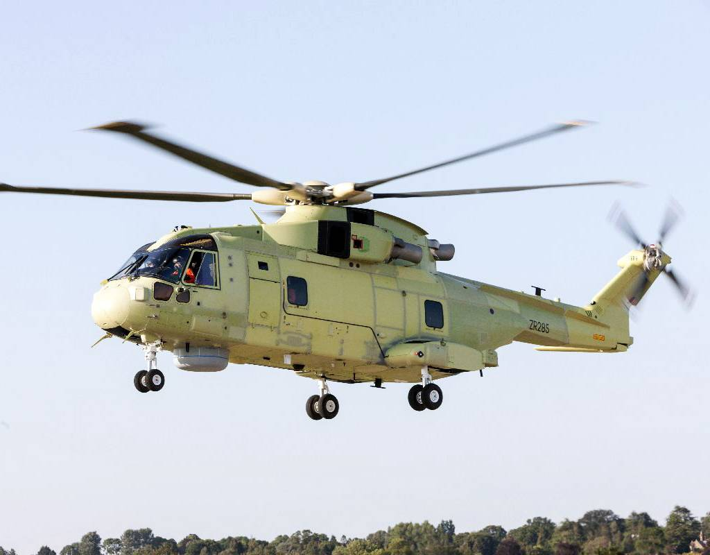 The first flight of the Polish Navy's AW101 demonstrated functional checks of the main airframe systems as well as the control system. Polish National Ministry of Defense Photo