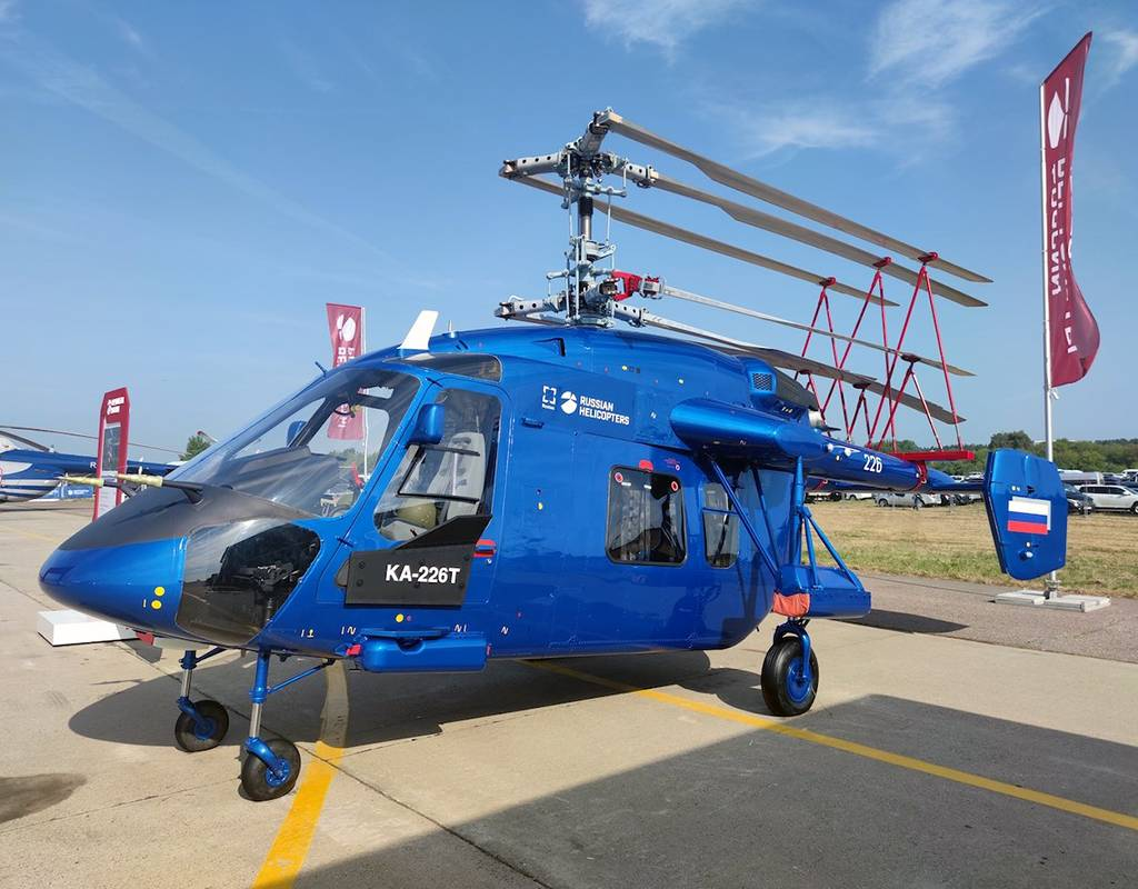 A prototype of the Ka-226T was presented during MAKS-2021. Rostec Photo