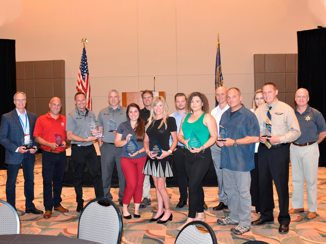 Aviation Specialties Unlimited, Night Flight Concepts, Vertical Magazine and Rotorcraft Pro Magazine sponsored the 2019 Night Vision Goggle Awards at APSCON 2019. Night Vision Awards Photo