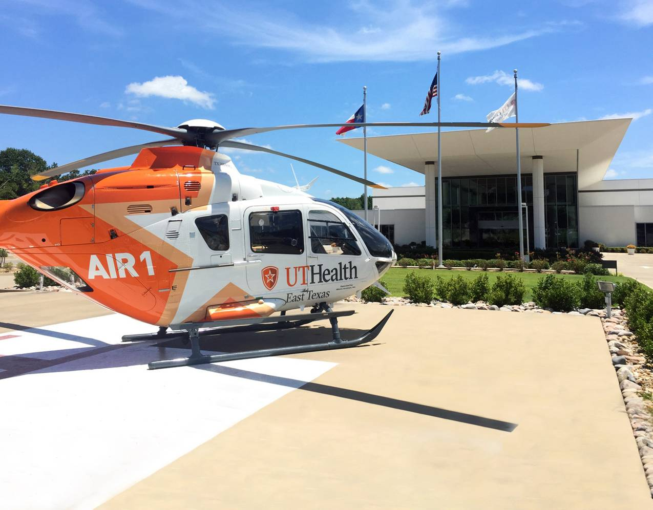 UT Health East Texas Air 1 now has three EC135s with IFR capabilities. Metro Photo