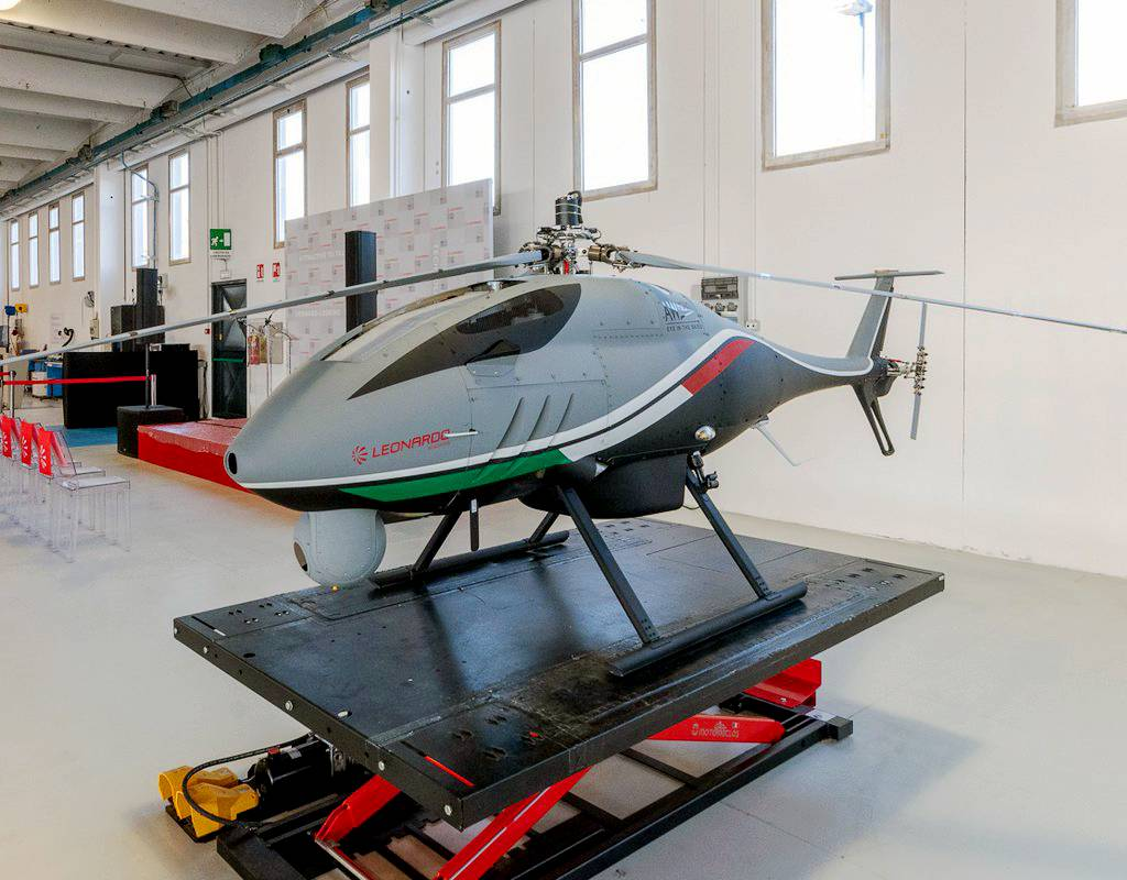 Leonardo is also developing a comprehensive training package for the AWHERO 200-kg-class remotely piloted UAS. Leonardo Photo