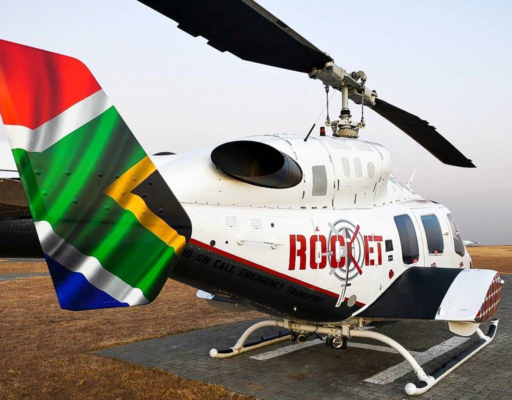 The new ROCKET helicopter emergency medical service operates six Bell 222 UT helicopters. Bell Photo