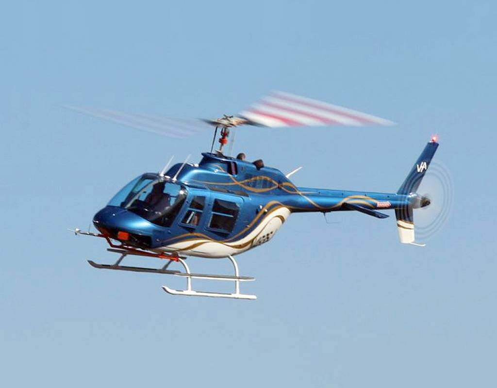 Service life of the 206B version two main rotor blade will be 10,000 hours with no overhauls required. VHA Photo