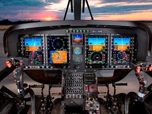 The TH-119 cockpit features advanced Genesys Aerosystems avionics. Leonardo Photo