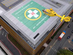 Artist impressions of the new helipad in Manchester. HELP Appeal Image