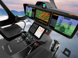 The technology used in FlytX is designed to reduce pilot workload, so that they can focus on their mission objective at every decisive moment. Thales Image