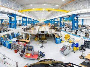 At the newly transformed factory, Boeing employees will build fuselages for the V-22 tiltrotor aircraft and modernize the MV-22 fleet for the U.S. Marine Corps. Fred Troilo/Boeing Photo