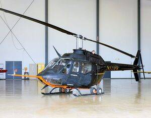 This Bell OH-58C Kiowa helicopter is owned by Flight Research Inc. in Mojave, California. It is scheduled to fly at NASA's Armstrong Flight Research Center in California during the Advanced Air Mobility project's National Campaign's NC Integrated Dry Run Test in December 2020. The helicopter will act as a surrogate UAM for the project to baseline a flight test plan and anchor current FAA standards to understand how future industry partnership flight testing needs to evolve. Flight Research Inc. Photo