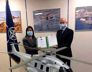 NHIndustries and NAHEMA, on behalf of the Federal Office for Equipment, Information Technology and In-Service Support of the German Armed Forces (BAAINBw) signed the contract for the acquisition of the helicopters, related support services and training on Nov. 26, 2020. NHIndustries Photo