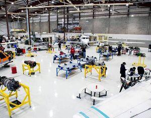 Inside the aircraft maintenance hangar at Fanshawe College's Norton Wolf School of Aviation Technology. Fanshawe College Photo