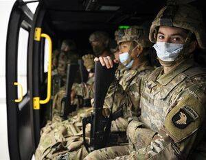 Staff Sgt. Andrew McCasland and other Soldiers assigned to 2-506th Infantry Regiment, 3rd Brigade Combat Team, 101st Airborne Division (Air Assault) participated in a Joint Multi-Role Technology Demonstrator Soldier touchpoint in Arlington, Texas, recently. Luke J. Allen Photo