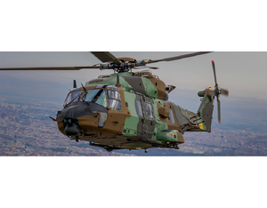 Indra will equip the GSPA and MSPT versions of the NH90 used by the Spanish Army, Air Force and Navy with a complete self-protection suite. Indra Photo