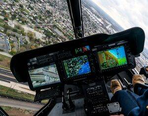 The Bell 505's high-tech G1000H all glass flight deck and panoramic windows provide superior visibility, full situational awareness, and safety. Bell Photo