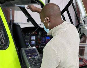 Liberty Partners' AML STC permits helicopters operators to use a wide variety of portable electronic devices including Wi-Fi, cellular, and 'mission-specific' carry-on radios. Liberty Partners Photo