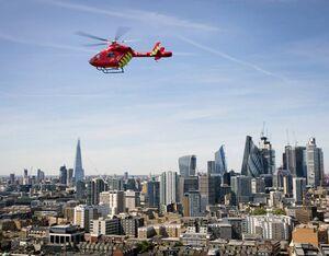 London's Air Ambulance in flight. David Levene Photo