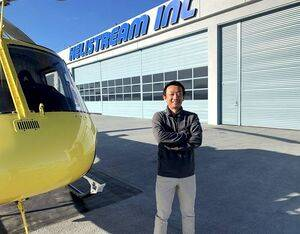 """Nobuyuki Kosuge, recipient of HAI's Salute to Excellence W.A. """"Dub"""" Blessing Flight Instructor of the Year Award. HAI Photo"""