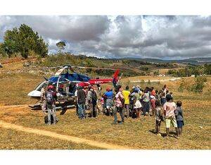 Haiti Air Ambulance providing emergency helicopter services to the people and visitors of Haiti. Spectrum Aeromed Photo