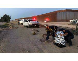Yuma Air and Marine Operations partnered with Border Patrol agents and local citizens to rescue a father and his child from a canal. USBP Photo