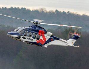 Leonardo announced delivery of an AW139 7-tonne intermediate twin engine helicopter to WIKING in December 2020. Leonardo Photo