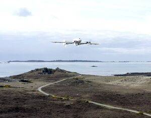 The Skyports drone on The Isles of Scilly. Chris Gorman for Royal Mail Photo