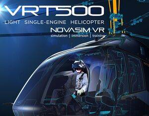 The virtual reality simulator will be used for demonstrations and test flights on the VRT500 helicopter at trade shows and in Aeroter's production facility in Italy. Brunner Image