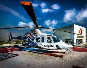 Since opening in June of 1991, the SkyLife crews have completed more than 22,000 patient transports. Air Methods Photo