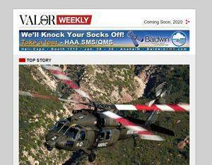 MHM Publishing's Valor Weekly e-newsletter focuses specifically on the parapublic and military helicopter sectors. MHM Image
