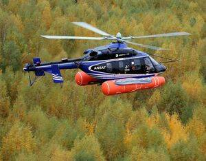 The newly certified emergency flotation system will be an option for Ansat customers. Russian Helicopters Photo