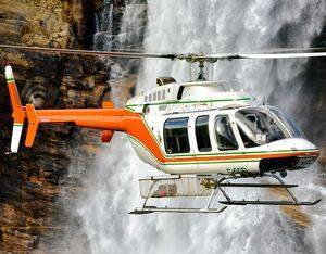 Universal Helicopters operated a number of different types in its near-60 years of operations, including the Bell 407 seen here. Mike Reyno Photo
