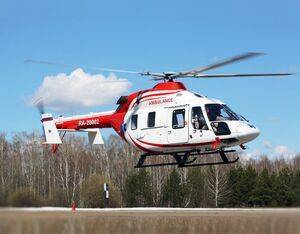 Russian Helicopters has obtained approval from Rosaviatsiya to install isolation units in EMS-configured Ansat helicopters to transport Covid-19 patients. Rostec Photo