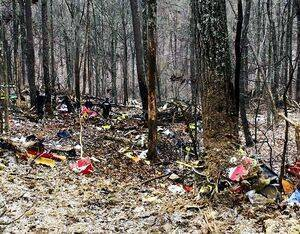 The wreckage of a Survival Flight helicopter that crashed in Ohio on Jan. 29, 2019, killing all three people on board. Ohio State Highway Patrol Photo