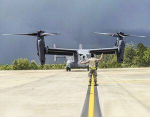 A CV-22 Osprey delivered to U.S. Air Force Special Operations Command marks the 400th tiltrotor aircraft delivered by the Bell Boeing V-22 team. U.S. Air Force Photo