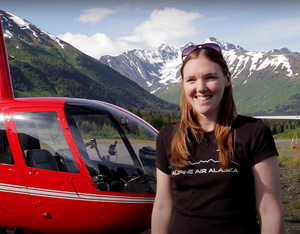 Along with other members of the executive team, Swift, pictured here, will manage a fleet of 14 helicopters and four locations in south central Alaska. Alpine Air Alaska Photo