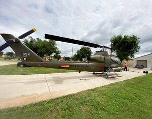 The Cobra, now restored to AH-1G configuration, outside the Artillery Museum in Fort Sill, Oklahoma. Jon Bernstein photo