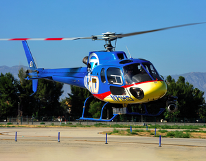 Helinet operates the Airbus AS350 B2 on electronic news gathering operations for ABC7 News. Skip Robinson Photo