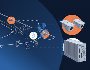 Daedalean and Avidyne's detect-and-avoid system is designed as several cameras and a powerful computation unit, interfacing to other aircraft electronics. The product will detect both airborne and ground hazards. Daedalean Image