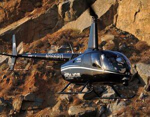 Fontana Police in California took delivery of the first Robinson R66 Police helicopter and now has a fleet of two of the type. Skip Robinson Photo