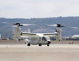 The first CMV-22B Osprey assigned to Fleet Logistics Multi-Mission Squadron (VRM) 30 lands at Naval Air Station North Island. U.S. Navy Mass Communication Specialist 2nd Class Chelsea D. Meiller Photo