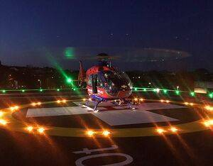 As air ambulances are now able to land at night, it is expected that the new helipad will also benefit from air ambulance transfers out to major trauma centres. RD&E Photo