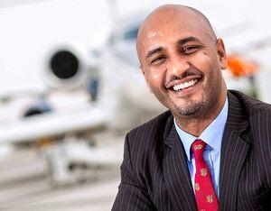 Dawit Lemma, founder and CEO of Addis Ababa-based Krimson Aviation.