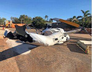 Pilots reported unusual vibrations through the tail rotor pedals in the days leading up to the crash. ATSB Photo